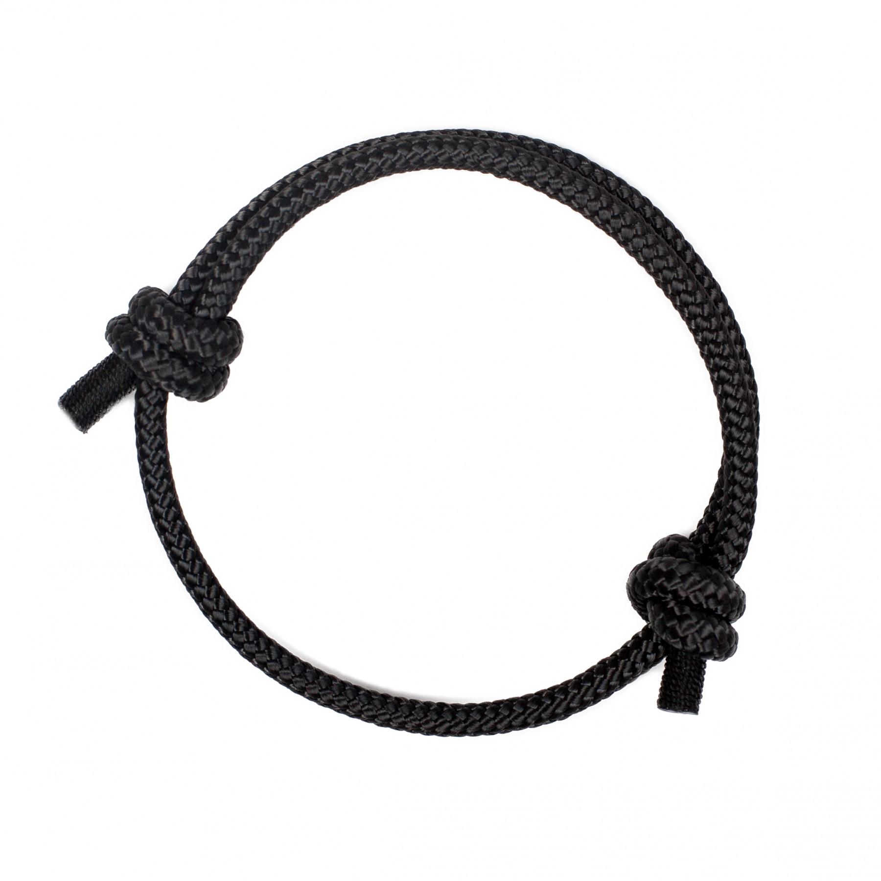"""Black Bracelet Womens: """"Black Pearl"""" Rope Anchor Bracelet For Women"""