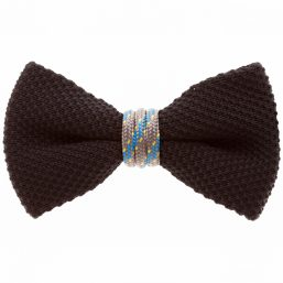 Black Grey Bow Tie