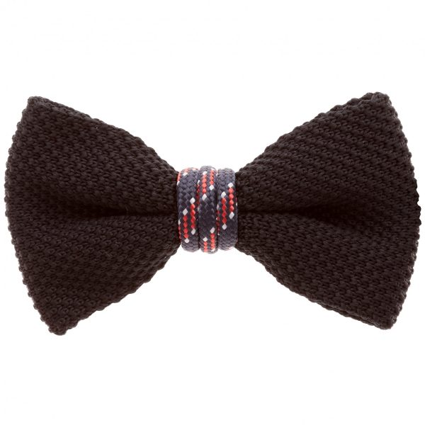 Wind Passion Black Woven Bow Tie