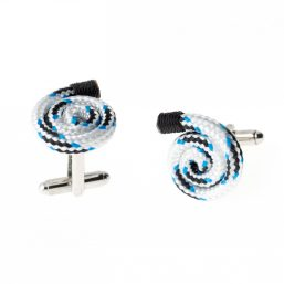 Wind Passion White Cufflinks