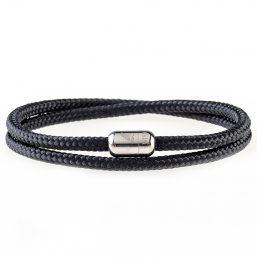 Black Pearl Silver Magnetic Bracelet