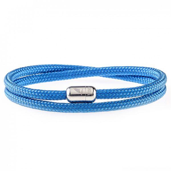 Blue Waves Silver Magnetic Bracelet