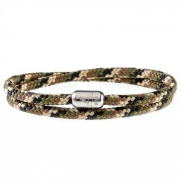 Camo Army Silver Magnetic Bracelet