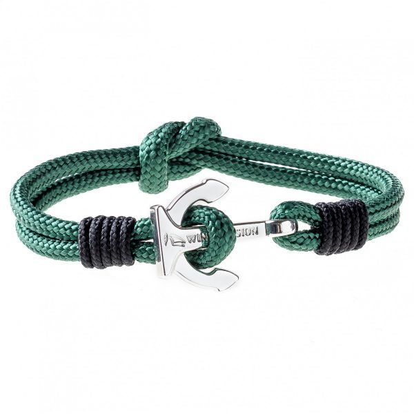 Green Anchor Bracelet