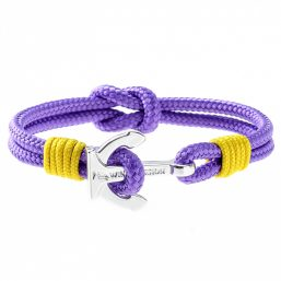 Purple Anchor Bracelet