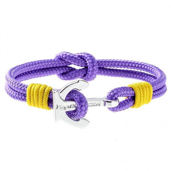 Purple Anchor Bracelet