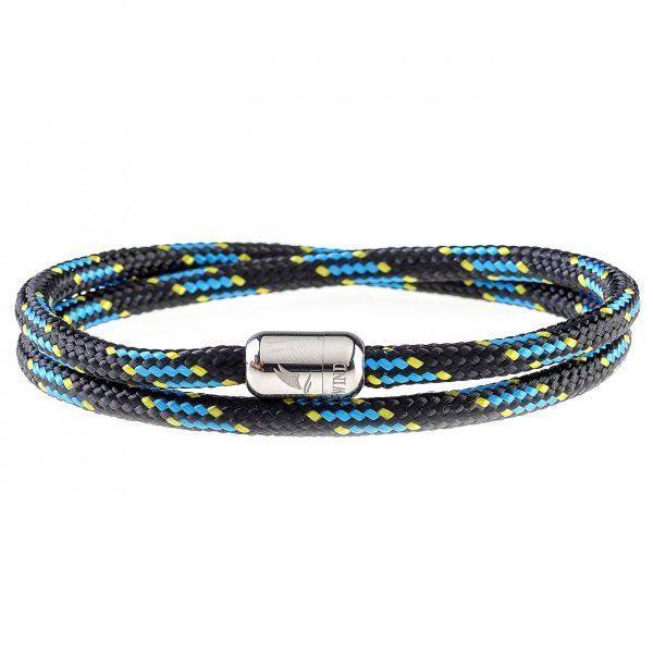 Dark Ocean Silver Magnetic Bracelet
