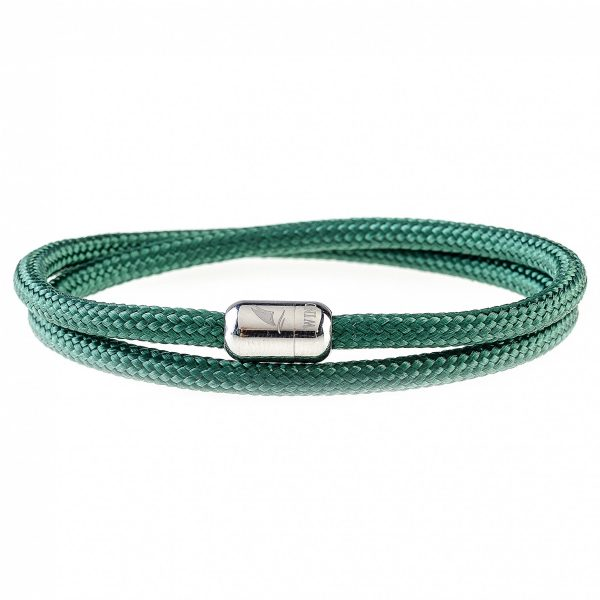 Green Bay Silver Magnetic Bracelet