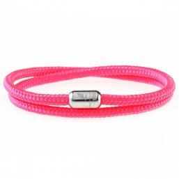 Pink Dreams Silver Magnetic Bracelet