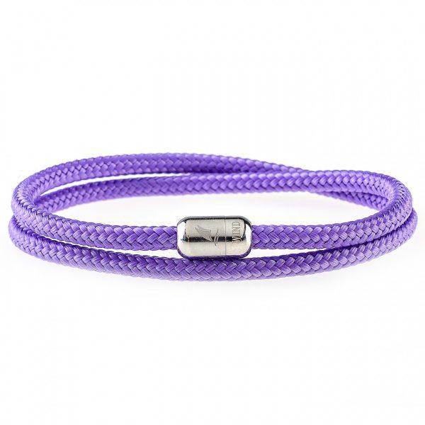 Purple Rain Silver Magnetic Bracelet