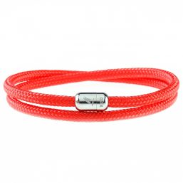Red Heart Silver Magnetic Bracelet