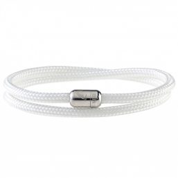 White Coral Silver Magnetic Bracelet