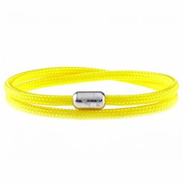 Yellow Shore Silver Magnetic Bracelet